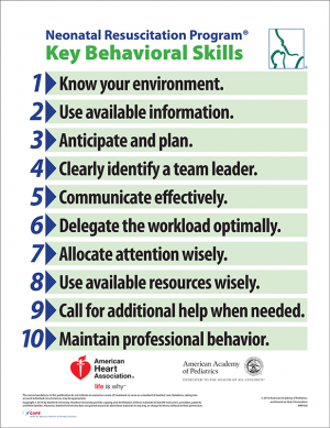 Nrp bookstore canadian paediatric society nrp behavioural skills poster 7th edition fandeluxe Images